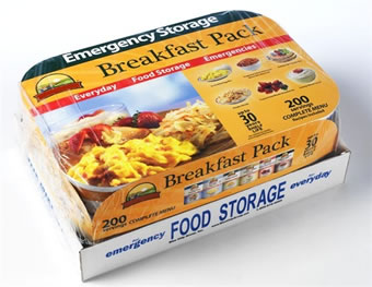 200 servings Breakfast Pack - 6 #10 Cans