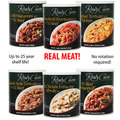 106 Servings 6 Pack #10 Cans with REAL MEAT! <BR>FREE SHIPPING!