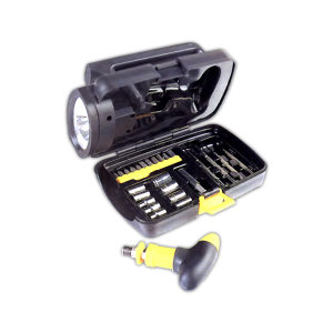 Tool kit in a flashlight