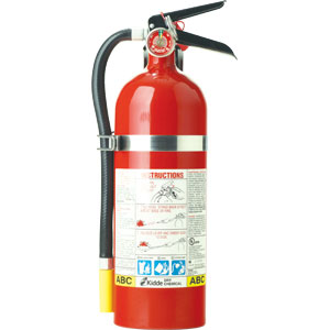 5 lb ABC Fire Extinguisher FC340M-VB w/Steel Bracket & Strap
