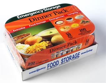207 Servings Dinner Pack - 6 #10 Cans