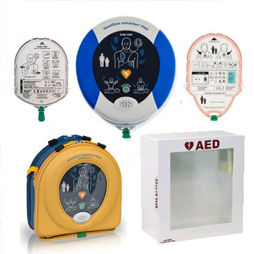 Adult and Pediatric AED Kit with Wall Cabinet </br>Free Shipping!