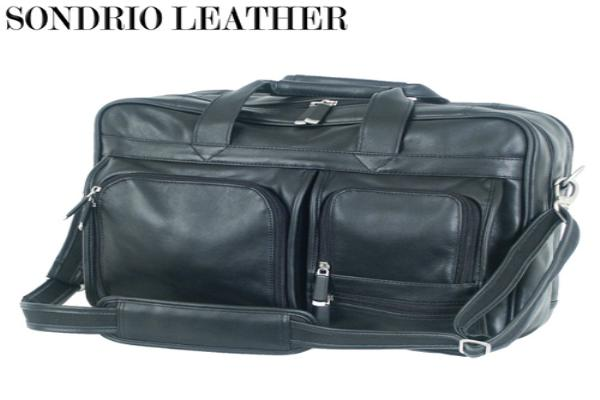 Multi Pocket Attache - Sondrio Top Grain Leather