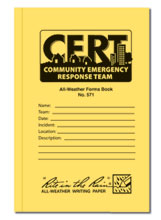 All weather 48 page CERT standard forms book