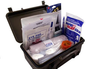 First Aid Kit in Plastic Waterproof Box
