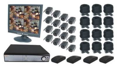16CH DVR COMPLETE SYSTEM, 4 WIRELESS 12 WIRED