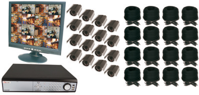 16CH DVR COMPLETE SYSTEM, 8 WIRED