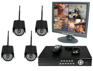 4CH DVR COMPLETE SYSTEM, 4 WIRELESS