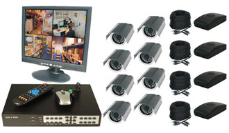8CH DVR COMPLETE SYSTEM, 4 WIRELESS 4 WIRED
