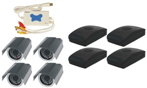 4CH USB DVR COMPLETE SYSTEM, 4 WIRELESS