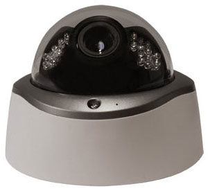 INDOOR DAY/NIGHT DOME CAMERA WITH 24 IR LEDs & 550 TVL