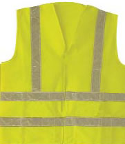ANSI Class 2 Velcro Front Lime Vest
