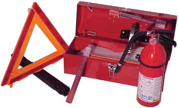 Fleet Safety Kit with 2-3/4 lb. 10 BC fire extinguisher DOT FMVSS 125