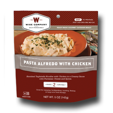 Pasta Alfredo with Chicken Outdoor Meal Case of 6