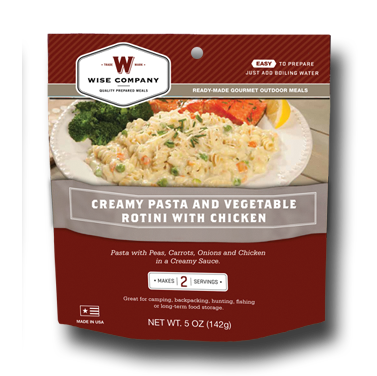 Creamy Pasta & Vege Rotini with Chicken Outdoor Meal Case of 6