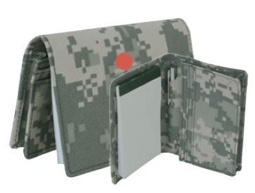 ACU Camo Business Card Holder with Pad and Pen