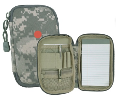 ACU Camo Zippered Pocket Pad w/ Pen