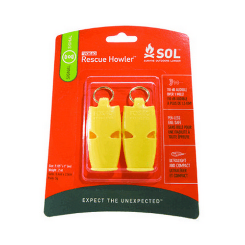 Rescue Howler Whistle 2/Pack