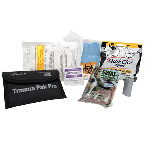 Trauma Pak Pro w/Quickclot and SWAT-T™ Tourniquet<br>Free Shipping!