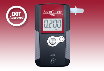 DOT approved breath alcohol testing device
