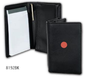 Business Card Holder with Pad and Pen