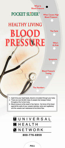Blood Pressure Pocket Slider­