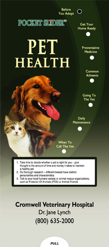 Pet Health Pocket Slider­
