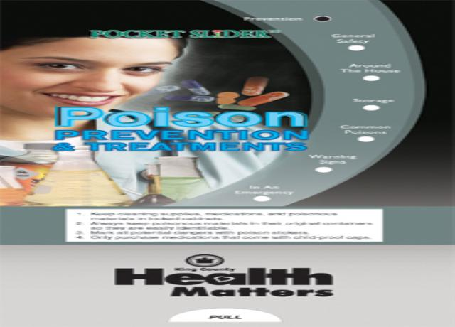 Poison Prevention & Treatments Pocket Slider-