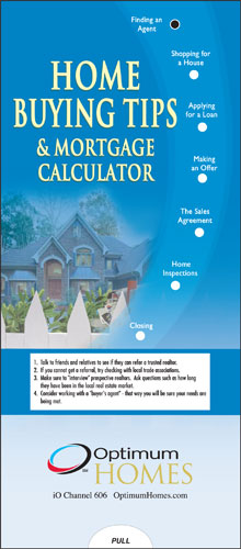 Home Buying Tips with Mortgage Calculator Pocket Slider-