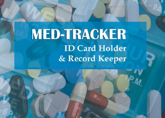 Med-Tracker ID Card Holder & Record Keeper