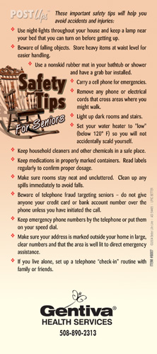 Safety Tips for Seniors Post Ups