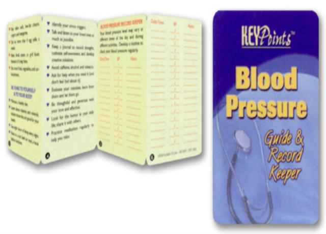 Blood Pressure Guide & Record Keeper Key Points