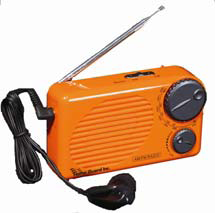 Water-resistant Battery-operated AM-FM Radio with earphones (Case of 200)
