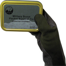 Military Scout Pocket Survival Tin
