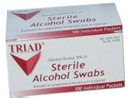 Alcohol Wipes (Medium) - Box of 100