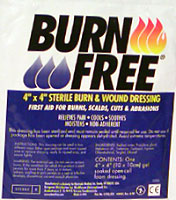 "Burn Free 4"" x 4"" Jel dressing"