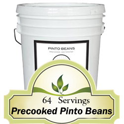 112 Servings Precooked Pinto Beans<br>20 Years Shelf Life!<br>Free Shipping!