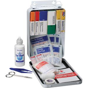 First Aid Kit for Vehicle<br>Metal Case w/Gasket<br>OSHA Compliant