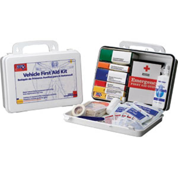 Vehicle First Aid Kit<Br>Plastic Box<br>OSHA Compliant
