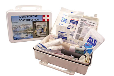 Automotive First Aid Kit in the Plastic Box