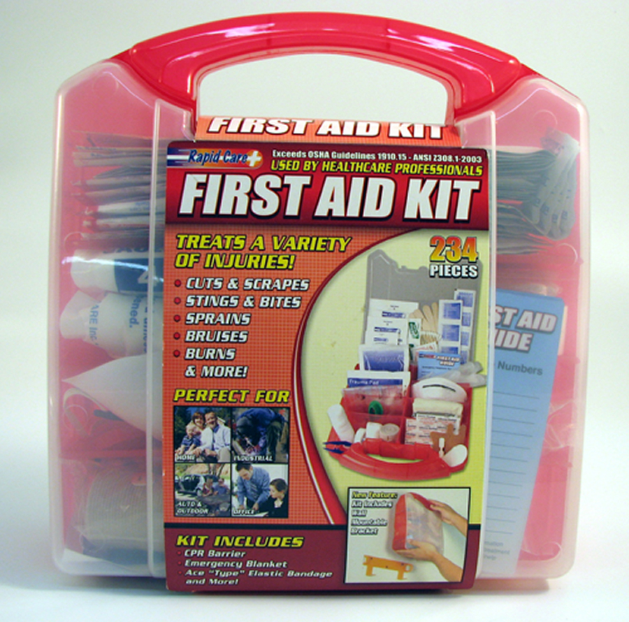 234 Pieces First Aid Kit in Plastic Box