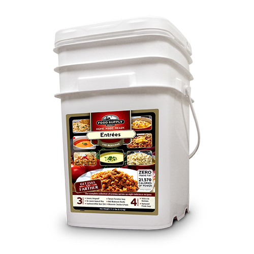 100 Servings Dinner Variety Bucket<br>20 Years Shelf Life<br>Free Shipping!