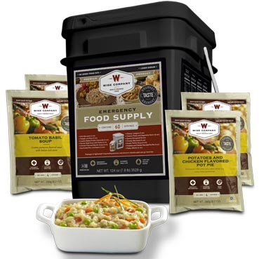 60 Serving Black Label Bucket Entrees Only<br>25 Years Shelf Life<br>Free Shipping!