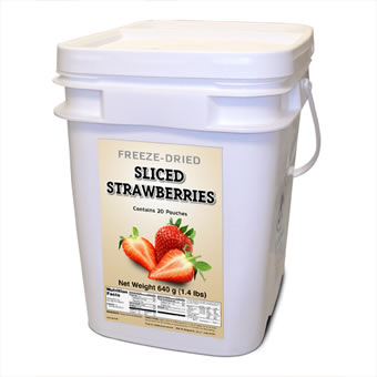 Freeze Dried Strawberries - 160 Servings<br>Free Shipping!