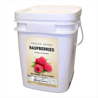 Freeze Dried Raspberries - 160 Servings<br>Free Shipping!