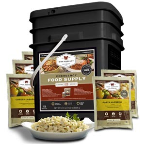 120 Serving Black Label Bucket (Entrees Only)<br>25 Years Shelf Life<br>Free Shipping!