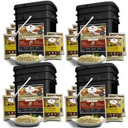 480 Servings (4x 120 buckets) Black Label - Entrees Only <br> Free Shipping!