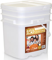 150 Serving Entrees & Breakfast Bucket<br>25 Years Shelf Life!<br> GMO Free! <br> Free Shipping!