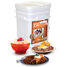 150 Serving Entrees & Breakfast Bucket<br>Gluten Free!<br> GMO Free! <br> Free Shipping!