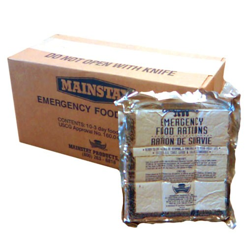 Mainstay 3600 Calorie Emergency Food Bars (set of 10) <br>MRE<br>5 Years Shelf Life<br> Free Shipping!!!